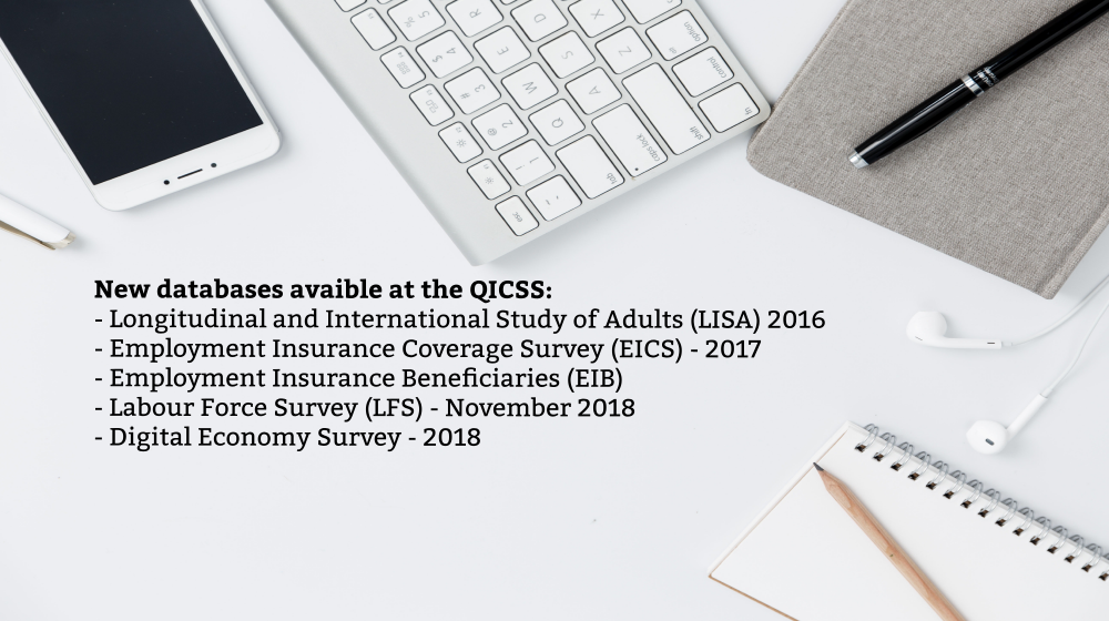 New databases available at the QICSS